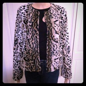 Express faux fur jacket size M